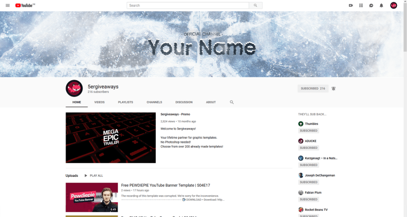 Ice Banner Example