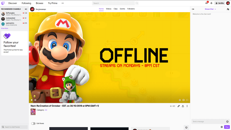 Mario Maker 2 Live Twitch Example