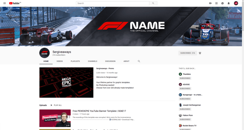 F1 2019 Banner Example