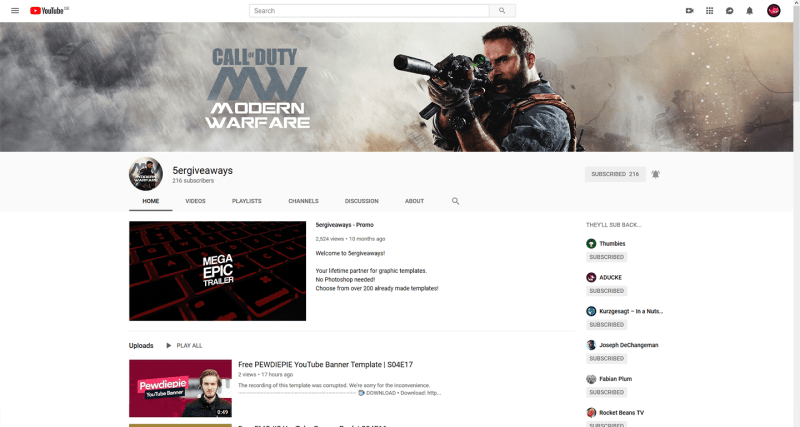 COD MW Banner Example