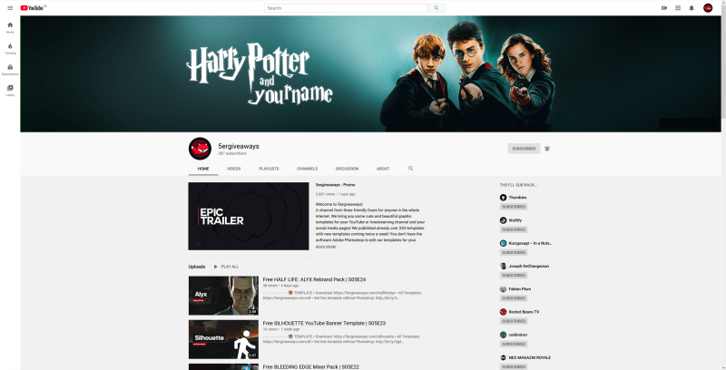 Harry Potter Banner Example