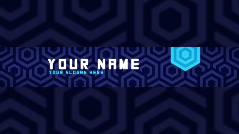 Blue Pattern Banner
