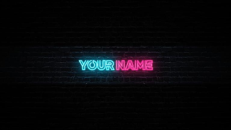 Neon Text Banner