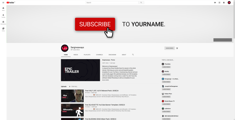 Subscribe Banner Example