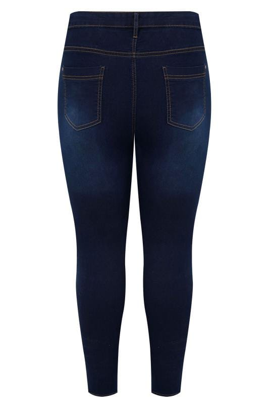 Download Indigo Blue Skinny Stretch AVA Jeans, Plus Size 16 to 28