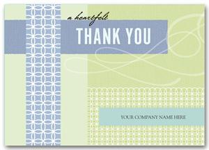 3ED010 Retro Regards Thank You Cards 7 7/8 x 5 5/8