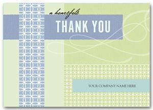 3ED010 Retro Regards Thank You Cards 7 7/8 x 5 5/8