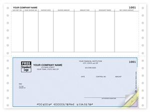 DCB203 Continuous Bottom Accounts Payable Check Compatible with Great Plains 9 1/2 x 7