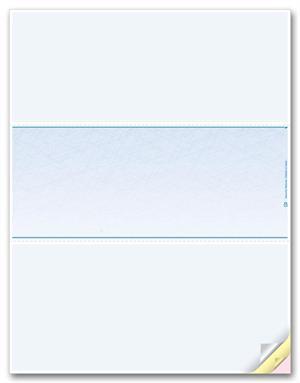 DLM832 Blank Laser Checks Middle Format 8 1/2
