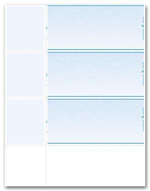 DLW837 Laser Wallet Blank Checks 8 1/2 x 11