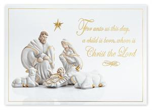 H14651 Holy Day Christmas Card 7 7/8 x 5 5/8