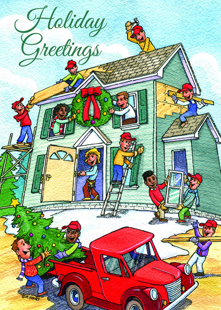 HP16325 - N6325 Cheerful Contractors Holiday Card