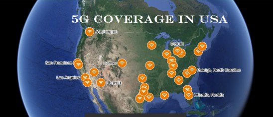 5G IN USA, 5G COVERAGE IN USA, 5G NETWORK IN USA