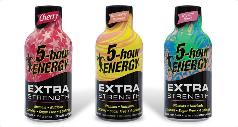 Cherry, Strawberry Banana, Tropical Burst Extra Strength 5-hour ENERGY® Shots
