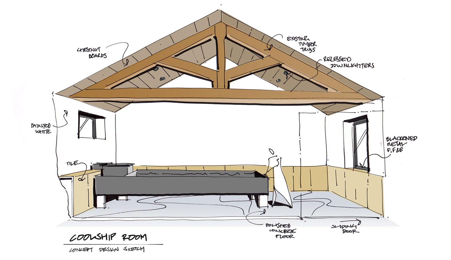 Duration Brewing Coolship Room Design Sketch