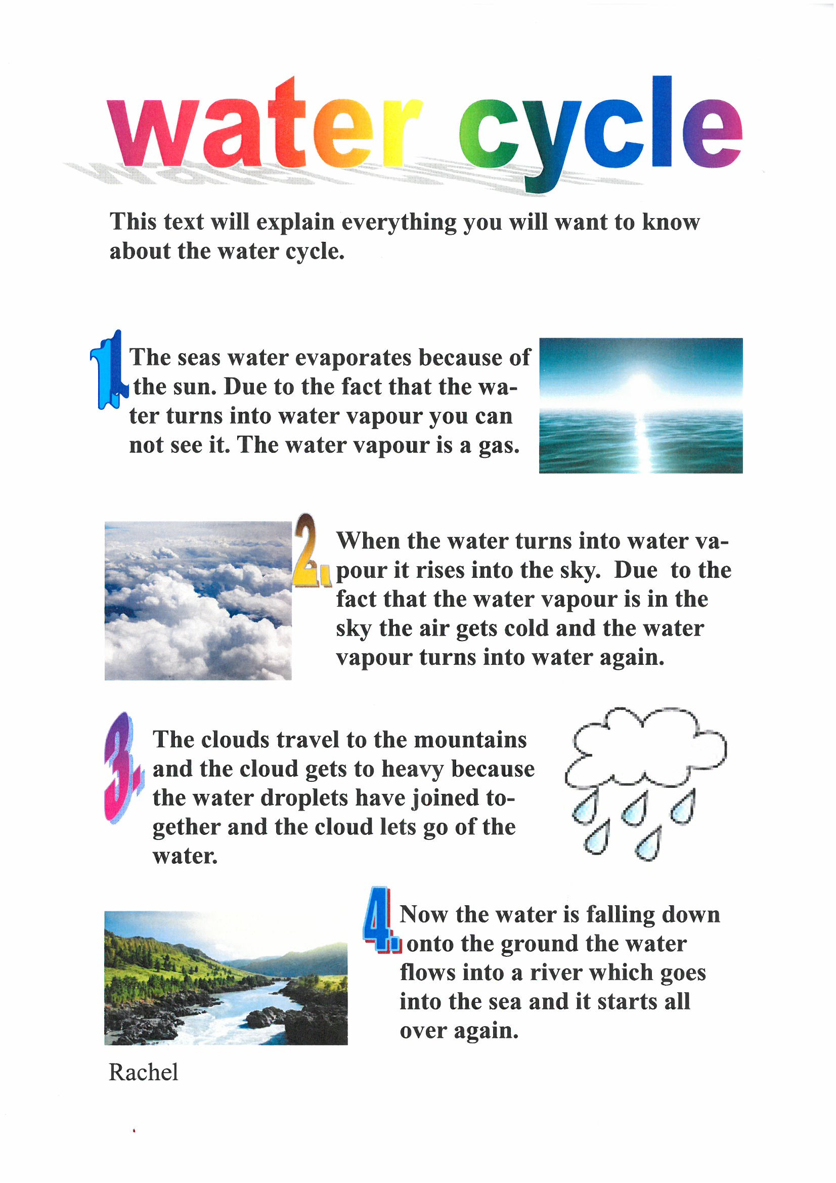 hight resolution of explaining the water cycle the amazing world of 5jdv rh 5jdevoil wordpress com simple water cycle diagram water cycle steps