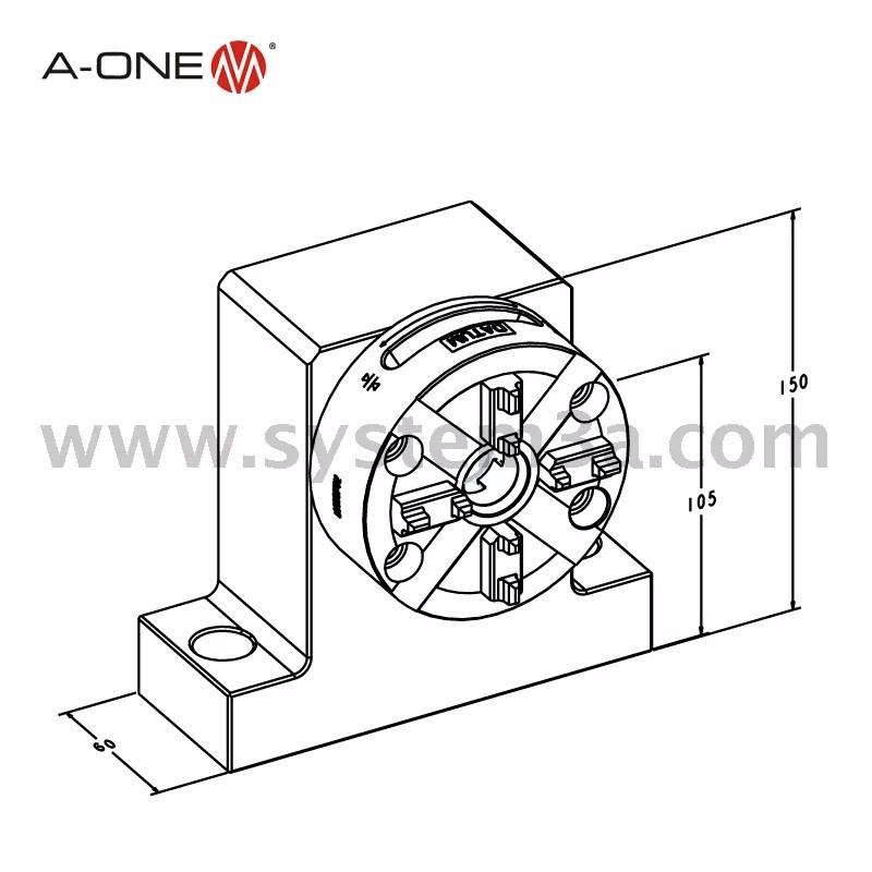 Pelat dasar untuk single manual chuck-horizontal 3A-100019