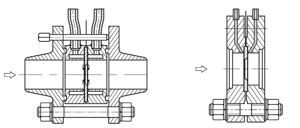 High Tolerance DPFLOW FPF50 Orifice Flowmeter for High
