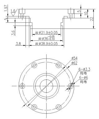 1MHz underwater depth sounder sensor transducer for sale