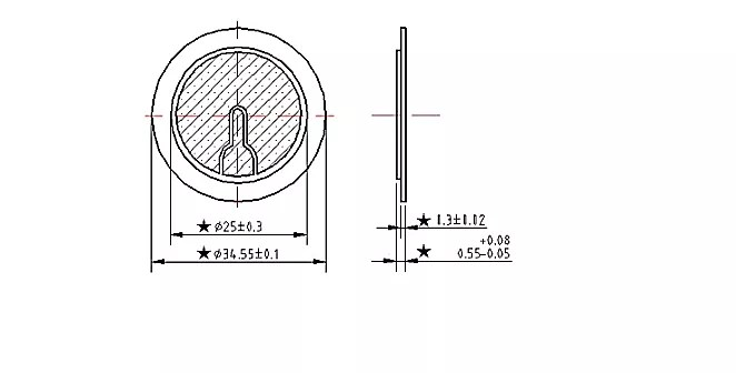 Electric Piezo Diaphragm Piezo Bender Element for Car