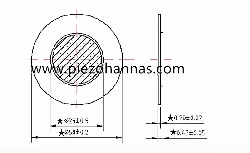 High Power Diaphragm Piezo Element for Watch from China