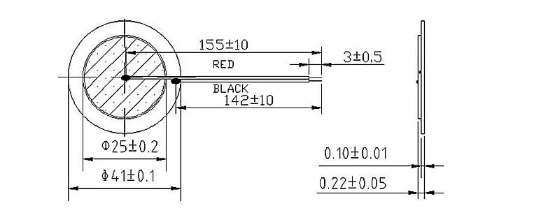 piezoelectric diaphragm piezo sounder ceramic element from