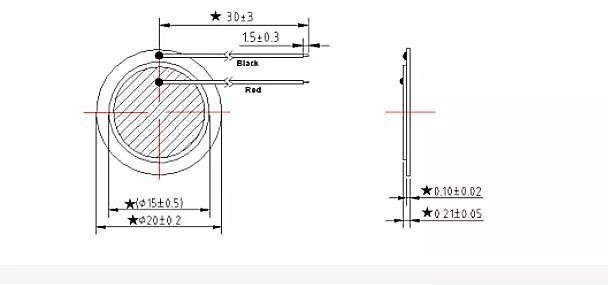 piezo diaphragm piezoelectric film sound transducer with