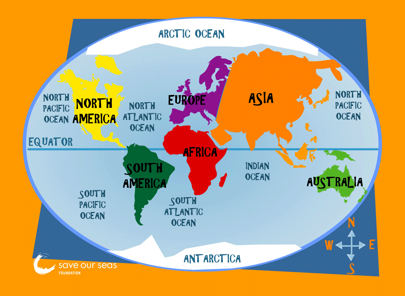 7 Continents Of The World 5majoroceans
