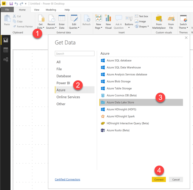 Using Azure Data Lake with Power BI