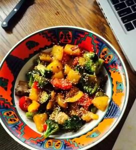 Low Carb Spicy Broccoli Jicama Salad
