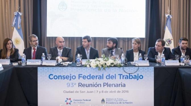 Nuevas autoridades del Consejo Federal del Trabajo