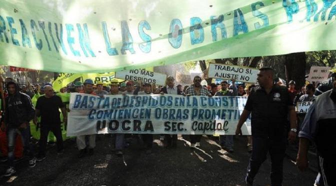 UOCRA: movilización y reclamo
