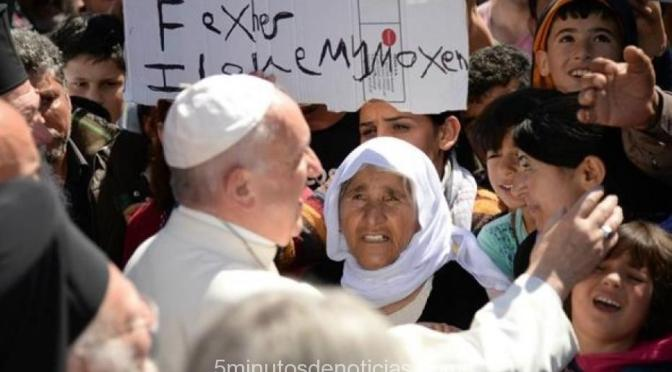 """Papa Francisco: en Lesbos, """"después de lo que he visto daban ganas de llorar"""""""