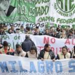 ATE Capital paró y movilizó para reclamarle a Larreta la reapertura de paritarias