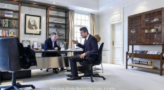 Tinelli en la Quinta de Olivos con el Presidente Macri