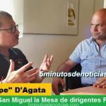 PEPE D'AGATA LANZA EN SAN MIGUEL LA MESA DE DIRIGENTES PERONISTAS BONAERENSES
