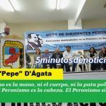 PEPE D'ÁGATA LANZÓ EN SAN MIGUEL LA MESA DE DIRIGENTES PERONISTAS BONAERENSES
