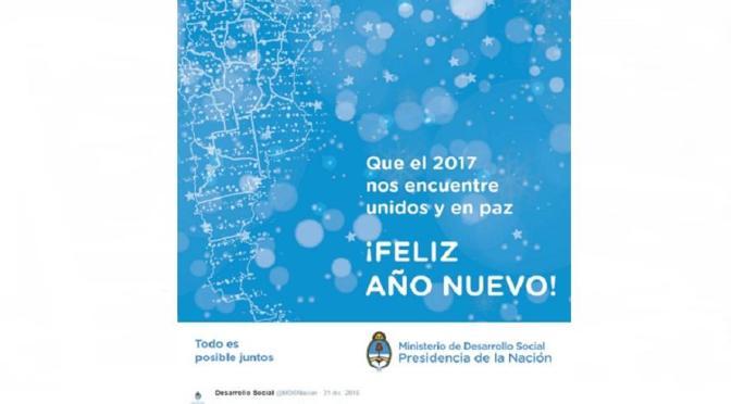 EL MINISTERIO DE DESARROLLO SOCIAL DIFUNDIÓ UN MAPA ARGENTINO SIN LAS ISLAS MALVINAS