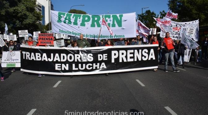PROTESTA DE LOS TRABAJADORES DE PRENSA