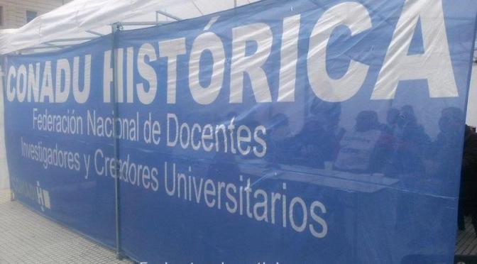 LA CONADU HISTÓRICA ANTE LA NEGATIVA DEL GOBIERNO VA AL PARO NACIONAL