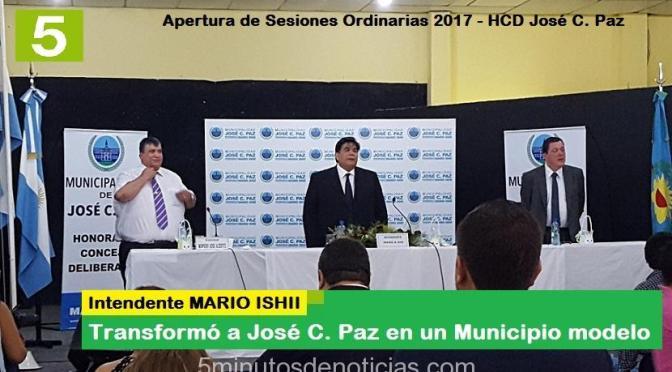 MARIO ISHII ABRIÓ LAS SESIONES ORDINARIAS 2017 DEL HCD