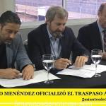 GUSTAVO MENÉNDEZ OFICIALIZÓ EL TRASPASO A AYSA