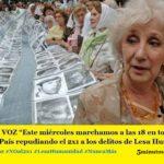 """CORRÉ LA VOZ """"Este miércoles marchamos a las 18 en todas las Plazas del País repudiando el 2×1 a los delitos de Lesa Humanidad"""""""