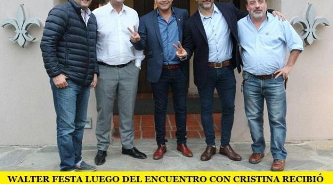 WALTER FESTA LUEGO DEL ENCUENTRO CON CRISTINA RECIBIÓ HOY A INTENDENTES DE LA PRIMERA SECCIÓN