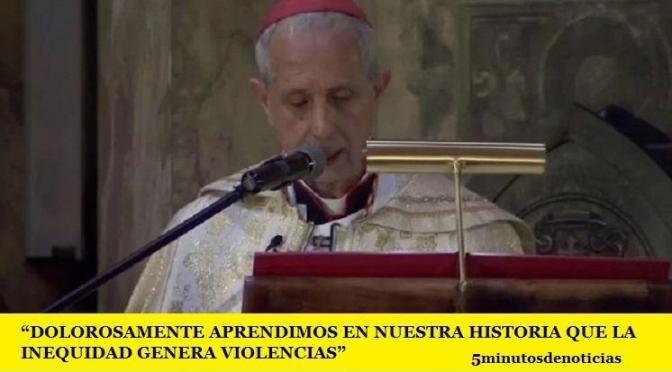 """""""DOLOROSAMENTE APRENDIMOS EN NUESTRA HISTORIA QUE LA INEQUIDAD GENERA VIOLENCIAS"""""""