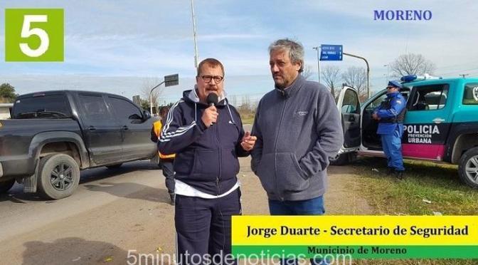 WALTER FESTA CON UNA FUERTE DECISIÓN POLÍTICA AVANZA CONTRA LA INSEGURIDAD EN MORENO
