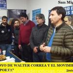 FUERTE APOYO DE WALTER CORREA Y EL MOVIMIENTO OBRERO A FRANCO LA PORTA