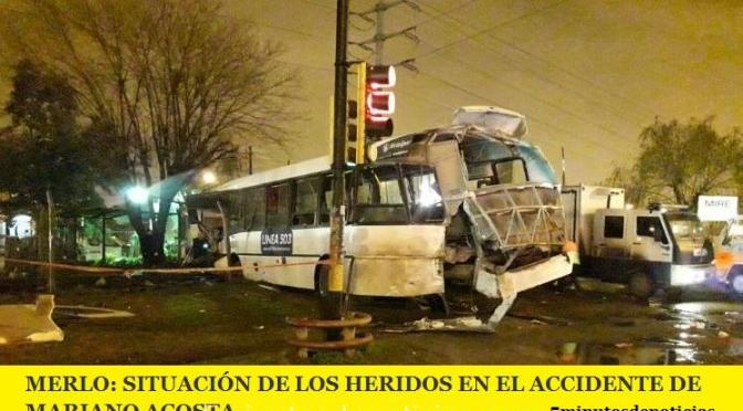 MERLO: SITUACIÓN DE LOS HERIDOS EN EL ACCIDENTE DE MARIANO ACOSTA