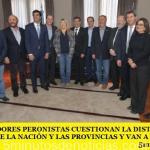 LOS GOBERNADORES PERONISTAS CUESTIONAN LA DISTRIBUCIÓN DE RECURSOS ENTRE NACIÓN Y LAS PROVINCIAS Y VAN A LA CSJN