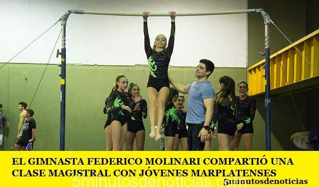 EL GIMNASTA FEDERICO MOLINARI COMPARTIÓ UNA CLASE MAGISTRAL CON JÓVENES MARPLATENSES